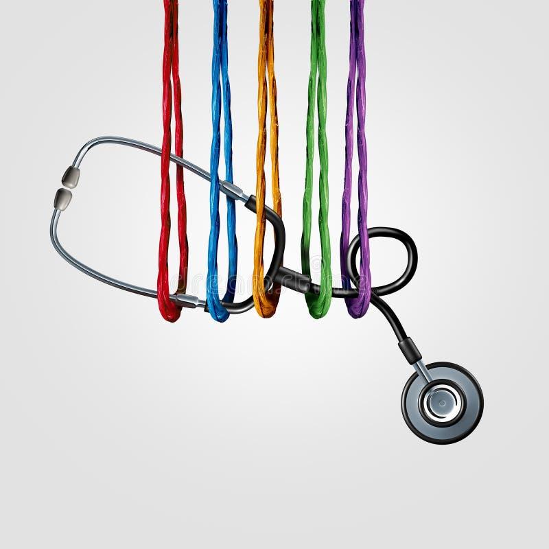 Медицинское обеспечение совместно бесплатная иллюстрация
