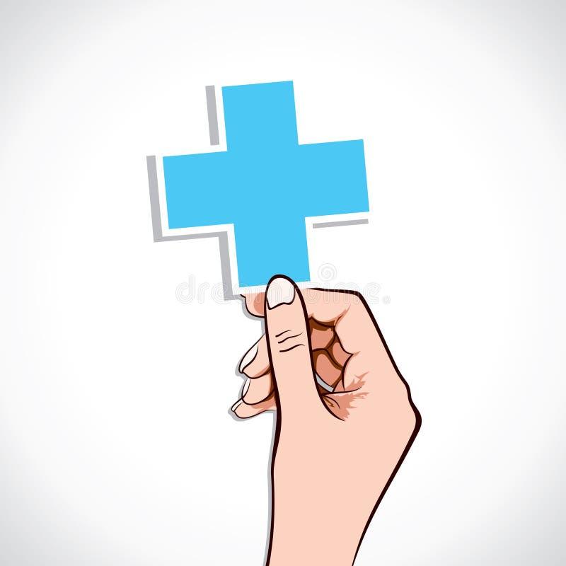 медицинско подпишите внутри руку иллюстрация вектора