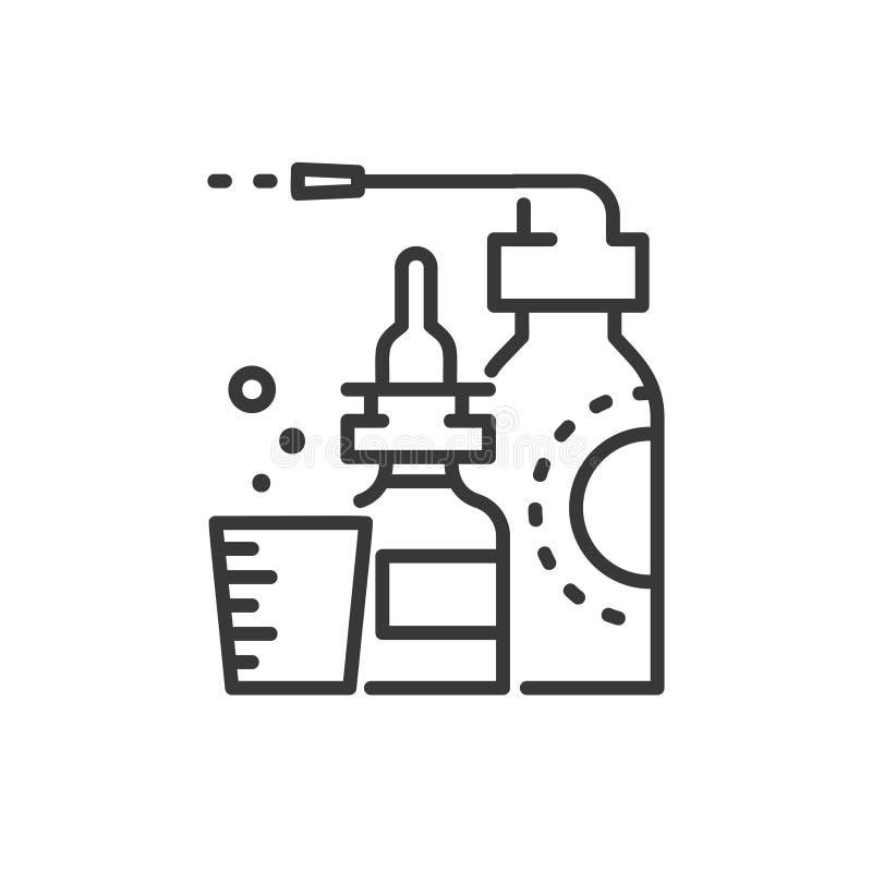 Медицины - линия значок дизайна одиночный изолированный иллюстрация штока