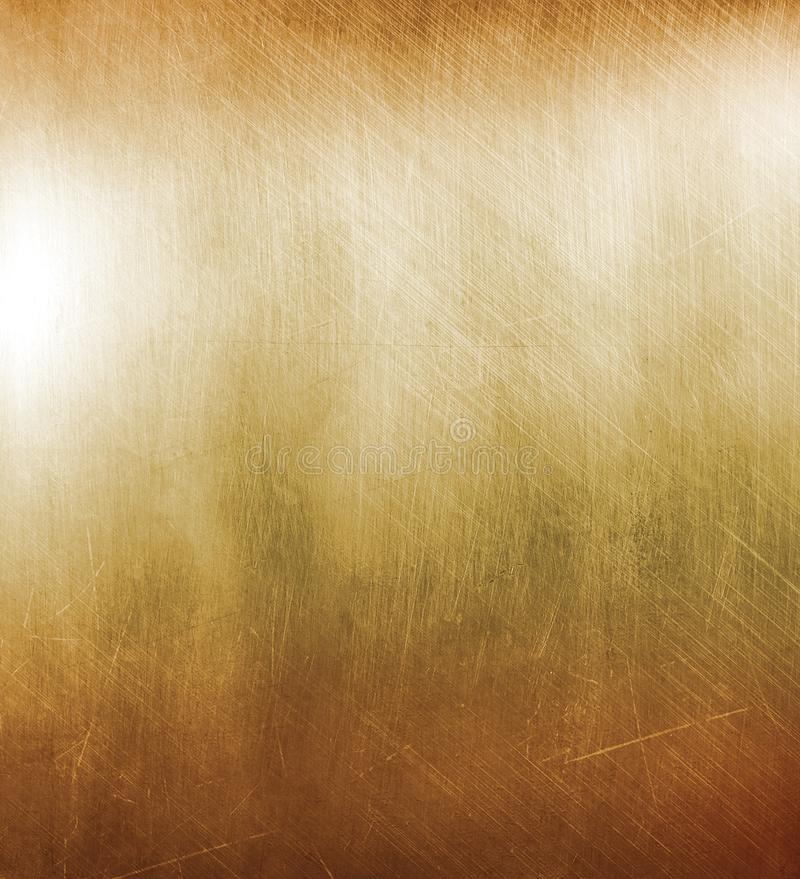Медная поцарапанная плита с блеском стоковая фотография