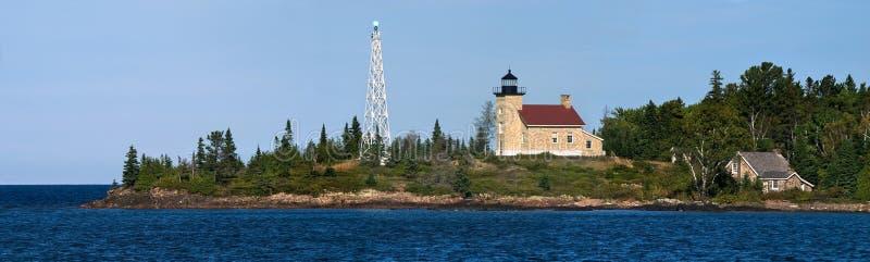 медный маяк гавани стоковое фото rf