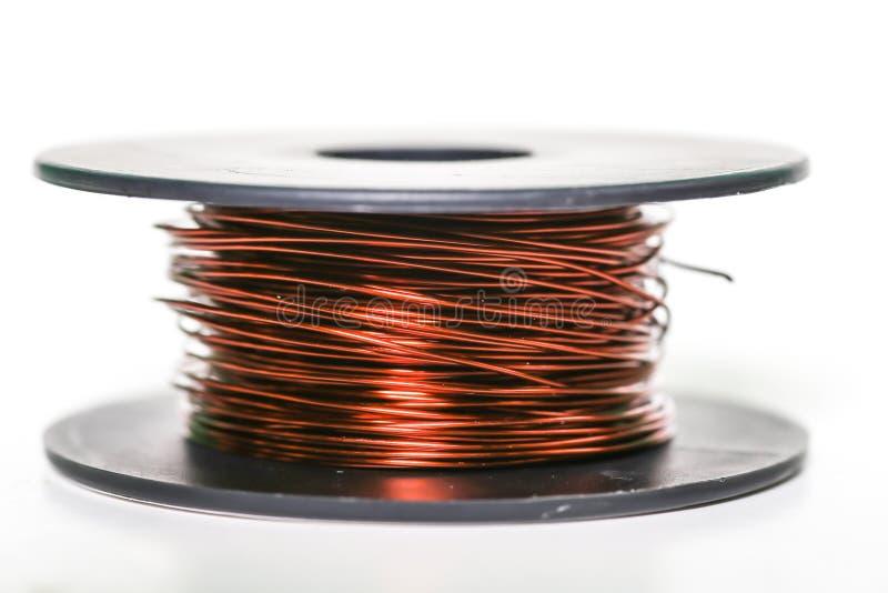 медный проволочный провод изолирован стоковое изображение rf