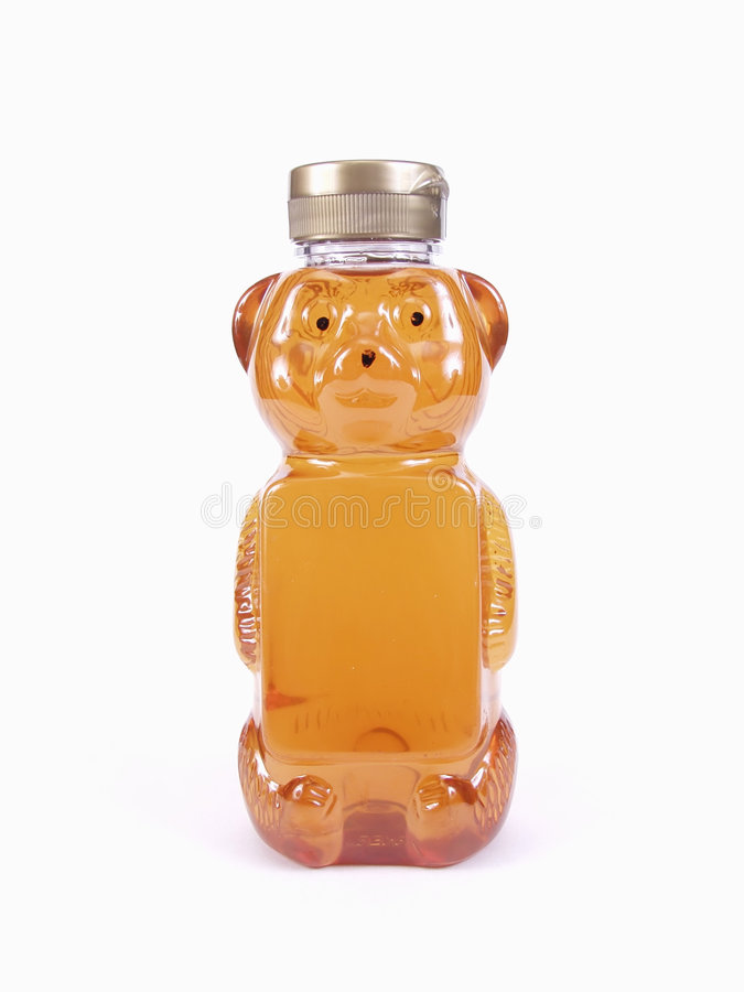 мед бутылки медведя стоковая фотография