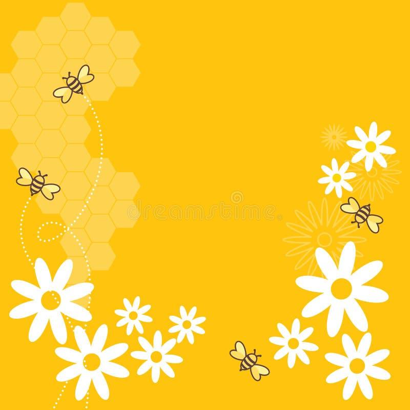 мед пчел иллюстрация вектора