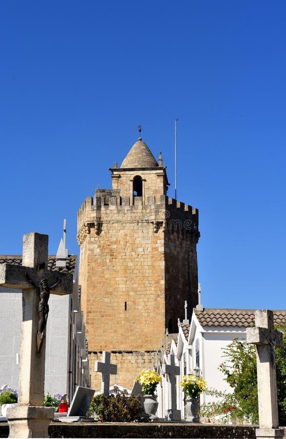 Международная башня природного парка Дуэро Freixo de Espada Ci стоковое изображение rf