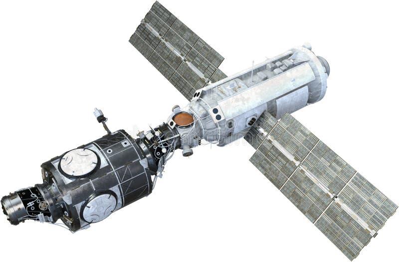 Международная космическая станция, спутник, изолировала стоковое изображение rf