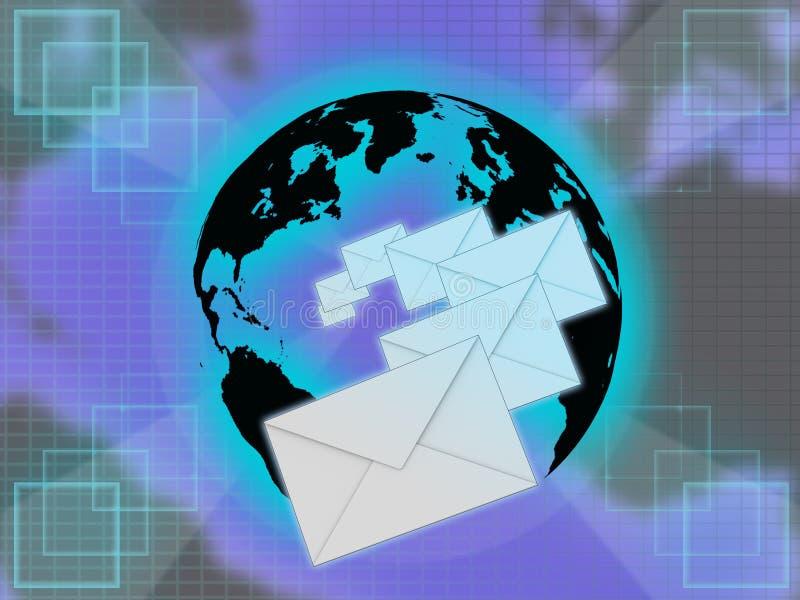 международная почта иллюстрация штока