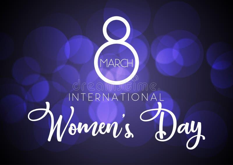 Международная предпосылка дня ` s женщин иллюстрация вектора