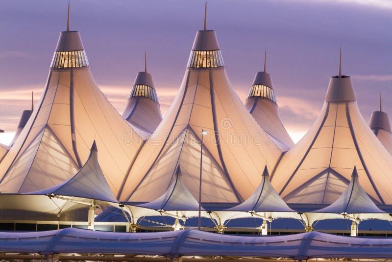 Международный аэропорт Денвера стоковое фото