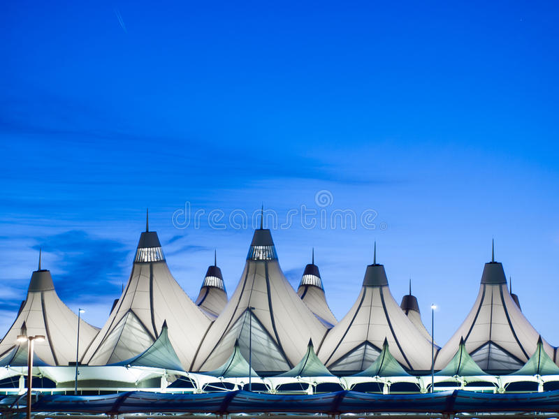 Международный аэропорт Денвер стоковое фото rf