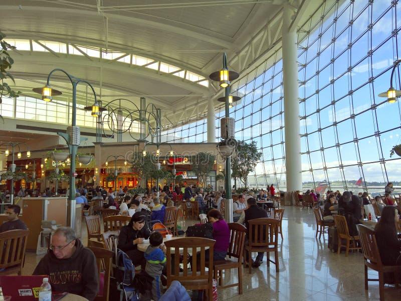 Международный аэропорт Сиэтл Tacoma - центральный стержень стоковые изображения rf