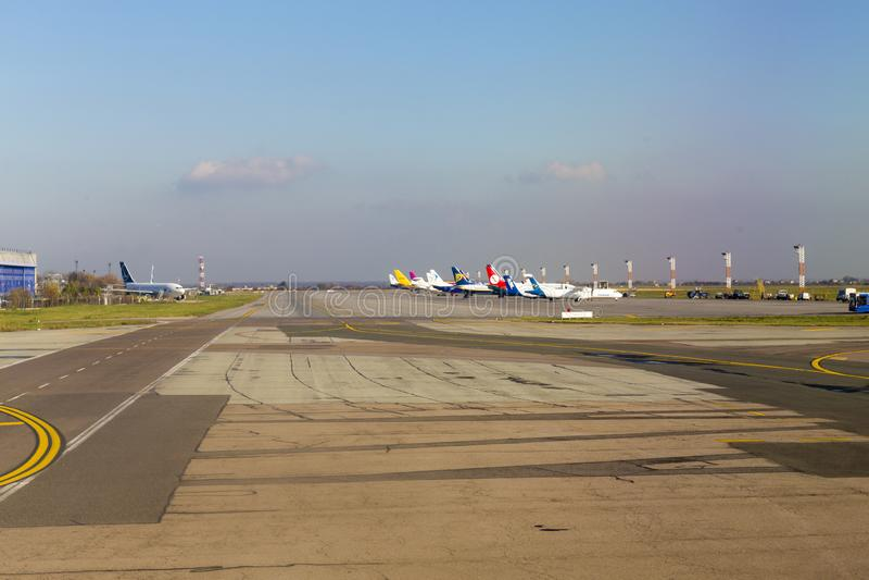 Международный аэропорт Henri Coanda от Бухареста стоковая фотография