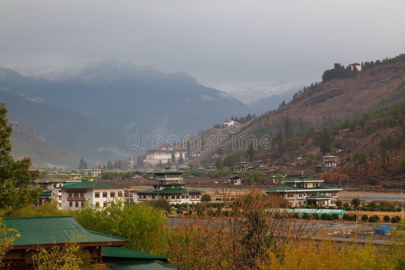 Международный аэропорт Paro в Бутане стоковое изображение rf