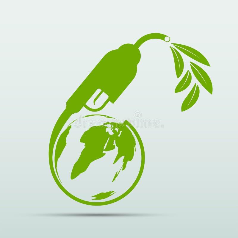 Международный день биодизельного топлива 10 Augustfor Ecology and Environmental Help The World With Eco-Friendly Ideas,Vector Ill бесплатная иллюстрация