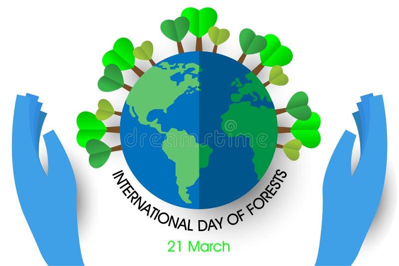 Международный день лесов иллюстрация вектора