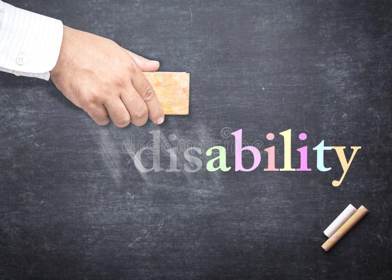 Международный день людей с концепцией инвалидности IDPD стоковая фотография rf