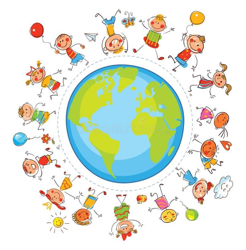 Международный день приятельства иллюстрация вектора