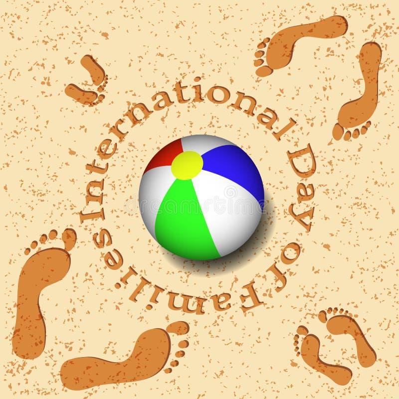 Международный день семей иллюстрация вектора
