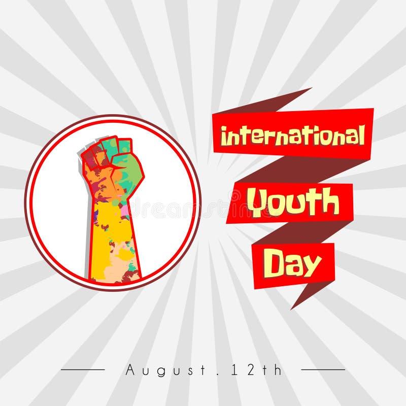 Международный дизайн вектора дня молодости иллюстрация вектора