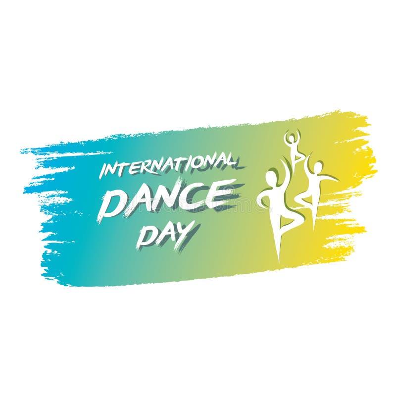 Международный дизайн плаката дня танца бесплатная иллюстрация
