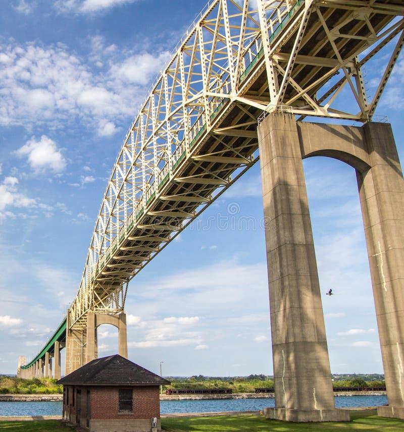 Международный мост в Sault Ste Мари Мичигане стоковые фото