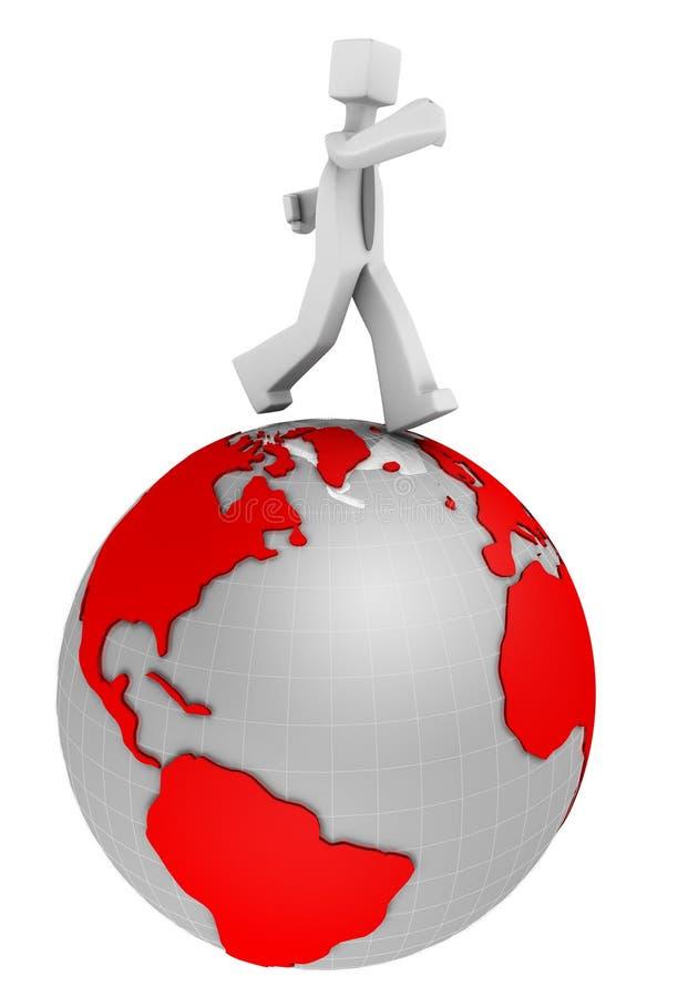 международный рынок принципиальной схемы дела иллюстрация вектора