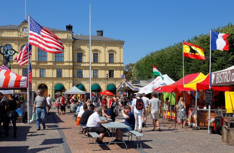 Международный фестиваль еды стоковые фото