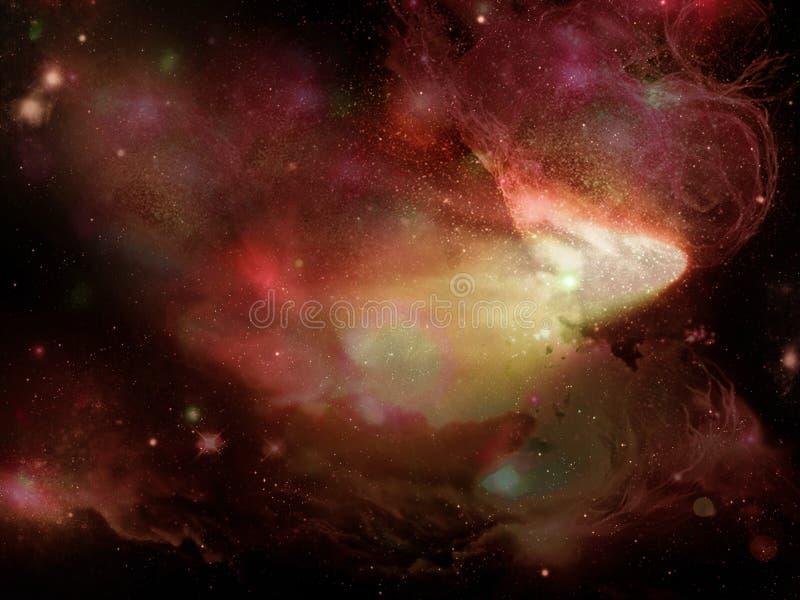 Межзвёздное облако огня иллюстрация вектора