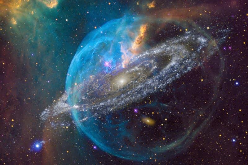 Межзвёздные облака и много звезд в космическом пространстве Элементы этого изображения поставленные NASA иллюстрация штока