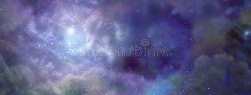 Межзвёздное облако в космическом пространстве стоковое изображение rf