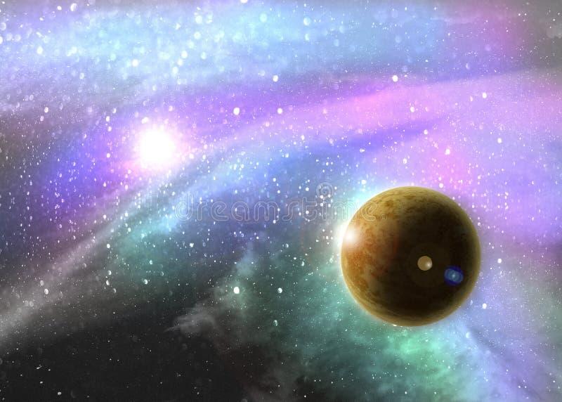 Межзвёздное облако глубокого космоса фантазии стоковая фотография rf