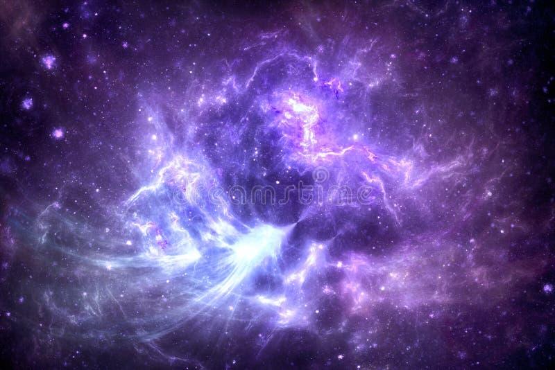 Межзвёздное облако глубокого космоса иллюстрация вектора