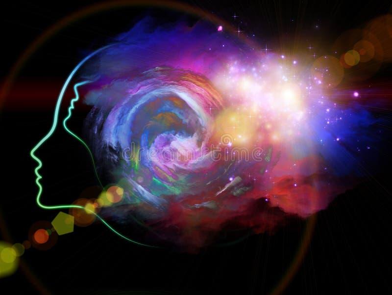 Download Межзвёздное облако девушки иллюстрация штока. иллюстрации насчитывающей знание - 40589235