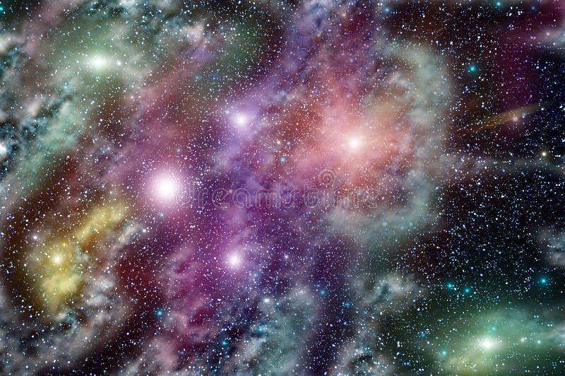 Межзвёздное облако звезды глубокого космоса стоковое изображение