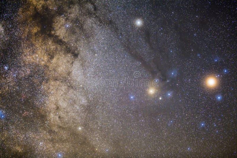 Межзвёздные облака в Rho Ophiuchus захватили стоковое фото