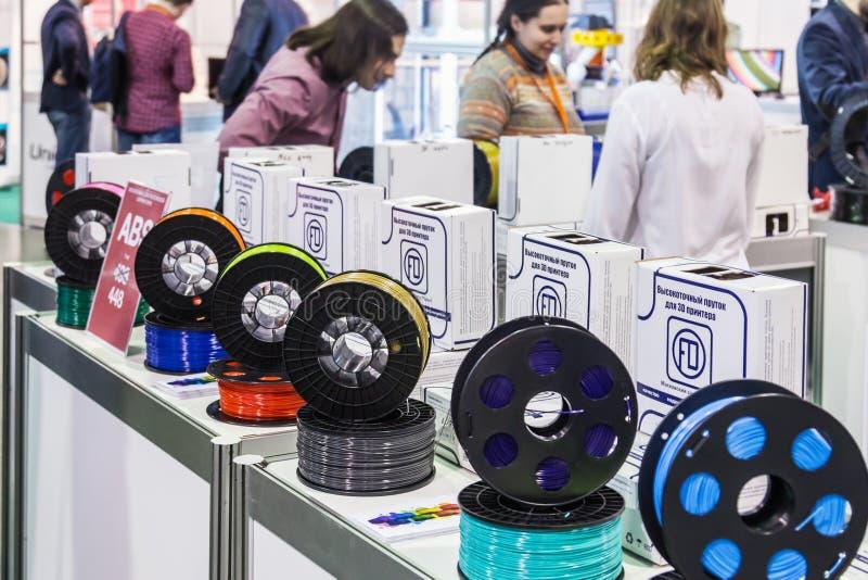 Международная конференция и выставка scann печатания 3D стоковые фотографии rf