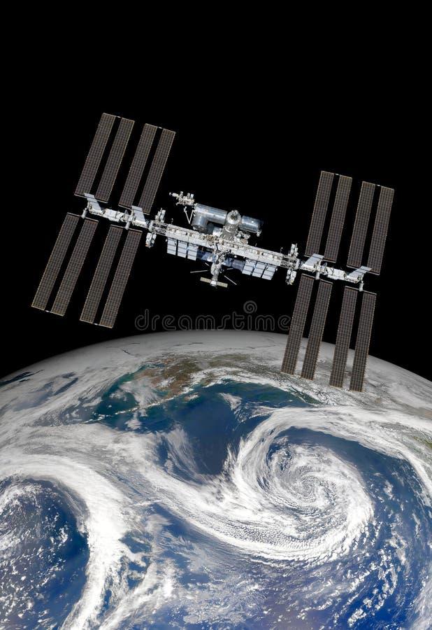 международная космическая станция стоковое изображение