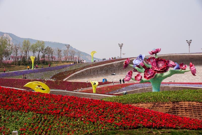 Международная садовническая экспозиция Qingd 2014 стоковое изображение rf