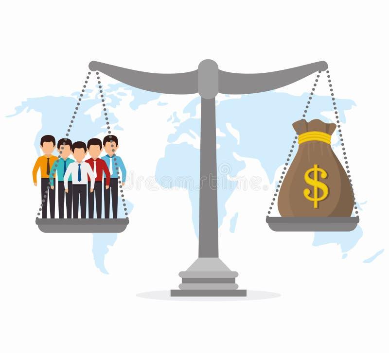 Международная экономика, деньги и дело бесплатная иллюстрация