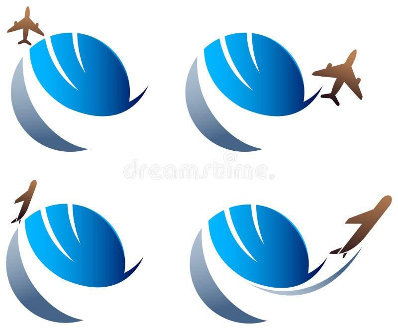 международное перемещение логоса бесплатная иллюстрация