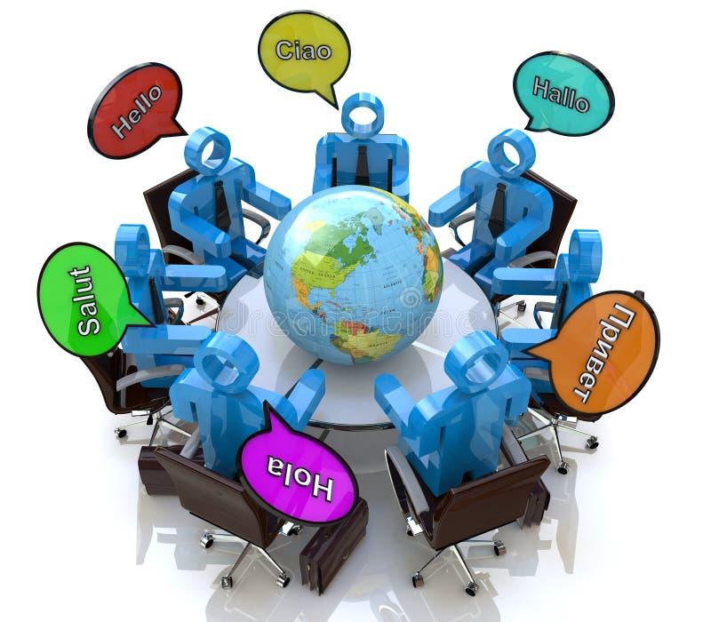 Международные деловые встречи бесплатная иллюстрация
