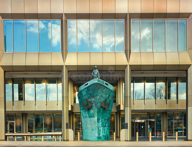 Международные штабы IMO морской организации, Лондон, стоковое изображение