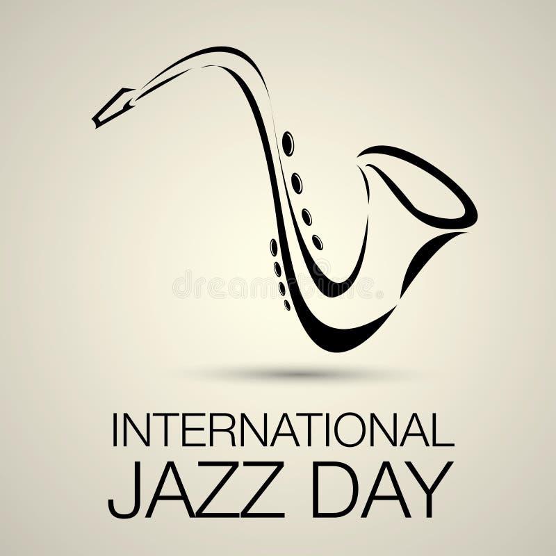 Международный вектор дня джаза иллюстрация штока