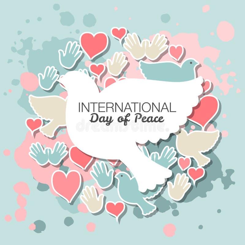 Международный день иллюстрации вектора мира бесплатная иллюстрация