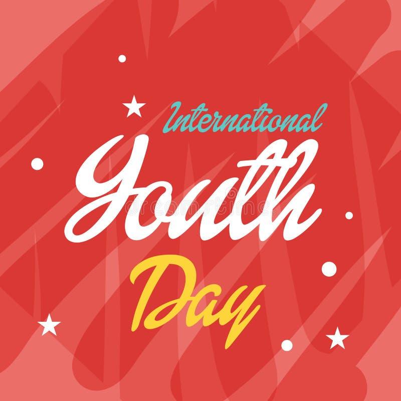 Международный день молодости иллюстрация штока