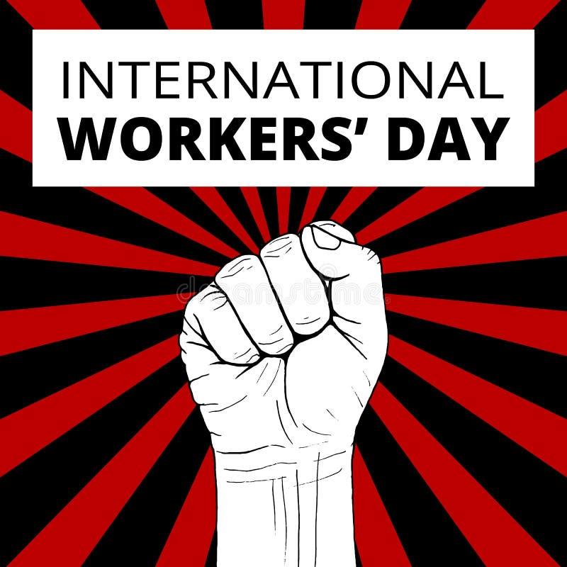 Международный день работников иллюстрация вектора