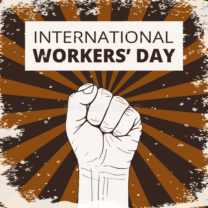 Международный день работников иллюстрация штока