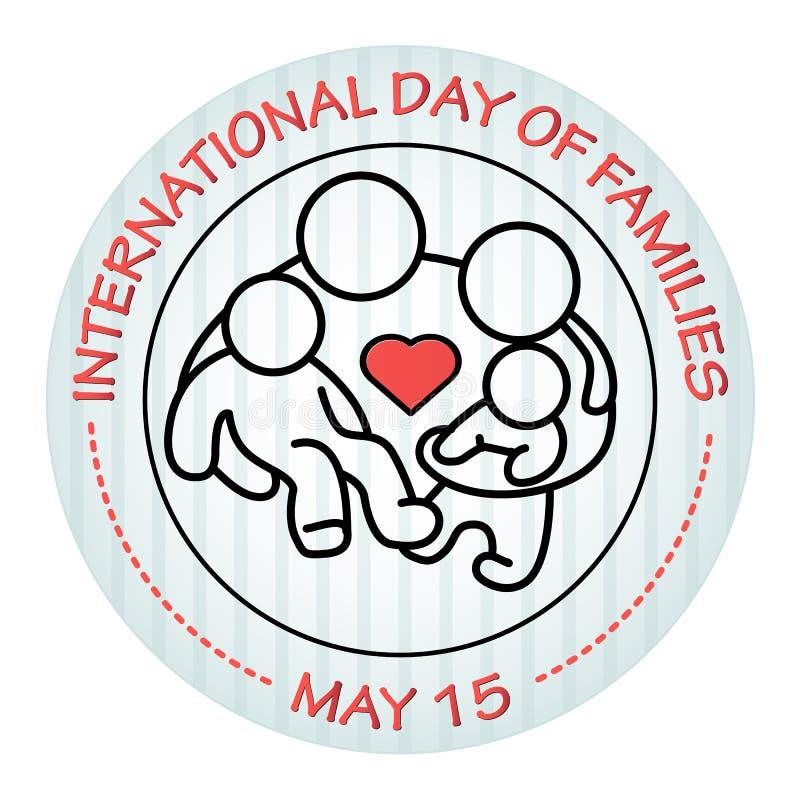 Международный день семей 15-ое мая Икона семьи бесплатная иллюстрация