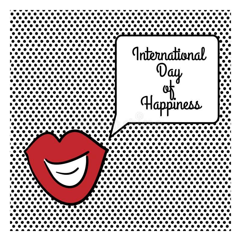 Международный день счастья иллюстрация штока