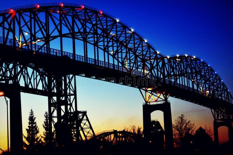 Международный мост в Sault Ste marie стоковое изображение rf